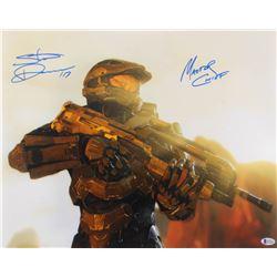 "Steve Downes Signed ""Halo"" 16x20 Photo Inscribed ""Master Chief"" (Beckett COA)"