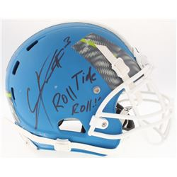 Calvin Ridley Signed Game-Used Under Armour All-America Custom Matte Blue Full-Size Authentic On-Fie