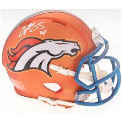 Champ Bailey Signed Broncos Blaze Speed Mini-Helmet (Radtke COA)