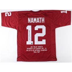 Joe Namath Signed Alabama Crimson Tide Career Highlight Stat Jersey (AI Verified COA  Namath Hologra