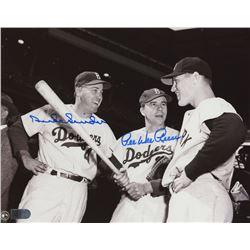Duke Snider  Pee Wee Reese Signed Dodgers 8x10 Photo (AI Verified COA)
