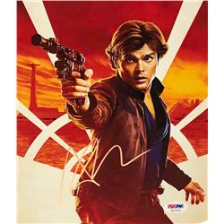 "Alden Ehrenreich Signed ""Solo: A Star Wars Story"" 8x10 Photo (PSA COA)"