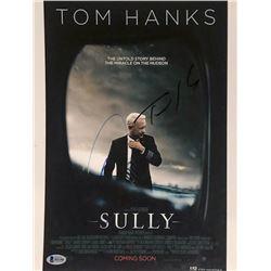 """Tom Hanks  Aaron Eckhart Signed """"Sully"""" 11x14 Photo (Beckett COA)"""