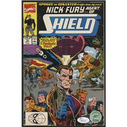 """Stan Lee Signed 1990 """"Nick Fury, Agent of S.H.I.E.L.D."""" Issue #15 Marvel Comic Book (JSA COA  Lee Ho"""