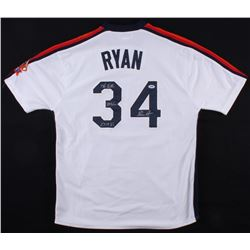 "Nolan Ryan Signed Astros 1986 Throwback Jersey Inscribed ""5,714 Ks"", ""324 Wins"", and ""7 No-Hitters"""