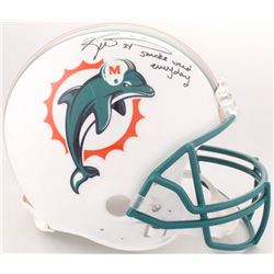 "Ricky Williams Signed Dolphins Full-Size Authentic On-Field Helmet Inscribed ""smoke weed everyday"" ("