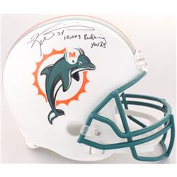 "Ricky Williams Signed Dolphins Full-Size Helmet Inscribed ""10,009 Rushing Yards"" (JSA COA)"