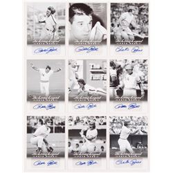 Lot of (9) 2012 Leaf Pete Rose The Living Legend Autographs with #AU11 Pete Rose, #AU17 Pete Rose, #