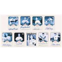 Lot of (9) 2003 Upper Deck Yankees Signature Pride of New York Autographs #RT Ralph Terry, #TK Tony