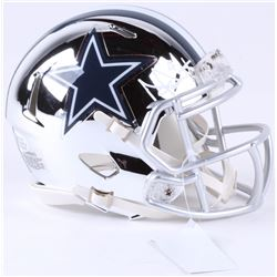 Dak Prescott Signed Cowboys Chrome Speed Mini-Helmet (Beckett COA)