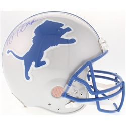 Barry Sanders Signed Lions Authentic On-Field Helmet (Beckett COA)