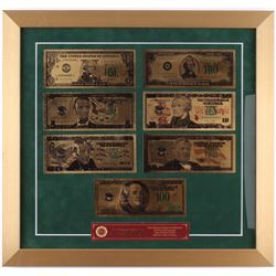 Gold US Banknote 17x18 Custom Framed Display