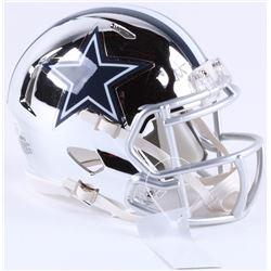 Dak Prescott Signed Cowboys Chrome Mini Speed Helmet (Beckett COA)