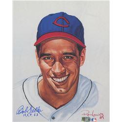 "Bob Feller Signed LE Indians 8x10 Print Inscribed ""HOF 62"" (AI Verified COA)"