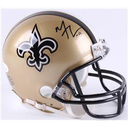 Michael Thomas Signed Saints Mini-Helmet (JSA COA)