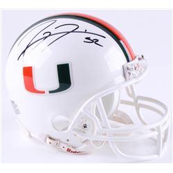 Ray Lewis Signed Miami Hurricanes Mini-Helmet (JSA COA)