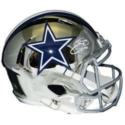 Emmitt Smith Signed Cowboys Full-Size Chrome Speed Helmet (Prova COA  Schwartz Sports COA)