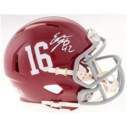 Eddie Lacy Signed Alabama Crimson Tide Mini Speed Helmet (Radtke COA  Lacy Hologram)
