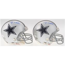 Lot of (2) Terrance Williams Signed Cowboys Mini Helmets (JSA COA)
