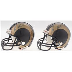 Lot of (2) Tavon Austin Signed Rams Mini Helmets (Radtke COA)