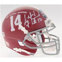 A.J. McCarron Signed Alabama Crimson Tide 2012 National Champions Mini Helmet (Radtke COA)