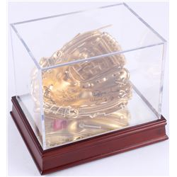"Ozzie Smith Signed Rawlings Gold Mini-Baseball Glove Inscribed ""Wizard of Oz"" (PSA COA)"
