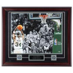 "Paul Pierce Signed Celtics 23x27 Custom Framed Photo Display Inscribed 20,000th Pts"" (Steiner COA)"