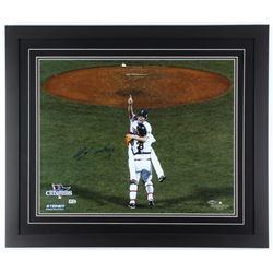 Koji Uehara Signed Red Sox Signed 22.25x26.25 Custom Framed Photo Display (MLB Hologram  Steiner Hol