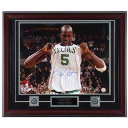 Kevin Garnett Signed Celtics 23x27 Custom Framed Photo Display (Steiner COA)