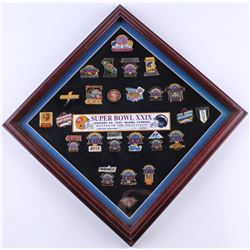 Super Bowl XXIX Commemorative 13.5x13.5 Custom Framed Pin Set