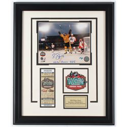 """Marco Sturm Signed Bruins 19x23 Custom Framed Photo Display Inscribed """"Winter Classic GWG"""" (Sure Sho"""