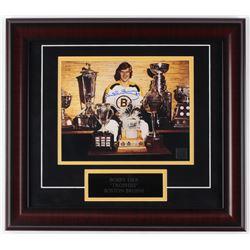 Bobby Orr Signed Bruins 16x18 Custom Framed Photo Display (Bobby Orr COA)