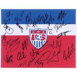 Team USA 11x14 Photo Team-Signed by (25) with David Bingham, Clint Dempsey, Kellyn Acosta, Dax McCar