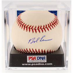 Bob Lemon Signed OAL Baseball with Display Case (PSA COA - Graded 10)