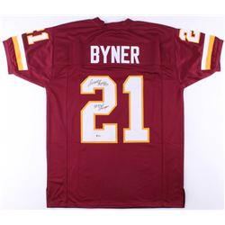 "Earnest Byner Signed Redskins Jersey Inscribed ""SB XXVI Champs"" (Beckett COA)"