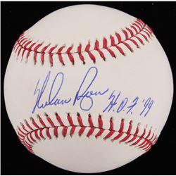 "Nolan Ryan Signed OML Baseball Inscribed ""H.O.F. '99"" (JSA COA  Ryan Hologram)"