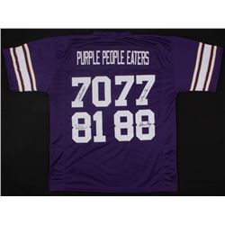 "Vikings ""Purple People Eaters"" Jersey Signed by (4) with Alan Page, Gary Larsen, Carl Eller,  Jim Ma"