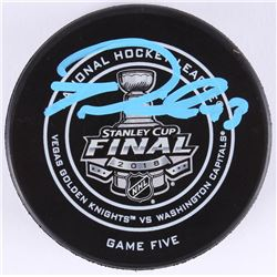 Tom Wilson Signed 2018 Stanley Cup Final Hockey Puck (Fanatics Hologram)