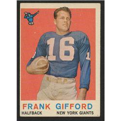 1959 Topps #20 Frank Gifford