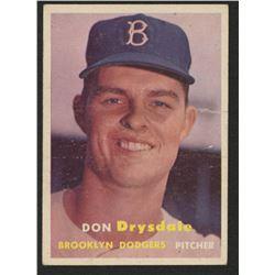 1957 Topps #18 Don Drysdale RC