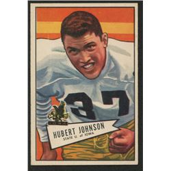 1952 Bowman Small #108 Hubert Johnston RC