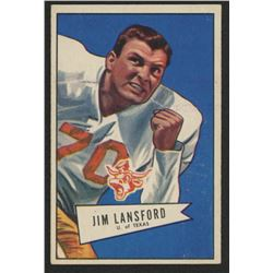 1952 Bowman Small #144 Jim Lansford RC