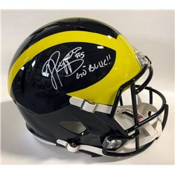 "Jabrill Peppers Signed Michigan Wolverines Full-Size Speed Helmet Inscribed ""Go Blue!!"" (JSA COA)"