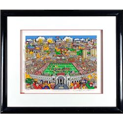 "Charles Fazzino Signed Ohio State Buckeyes ""Saturday Afternoon in the Shoe"" 21x25 Custom Framed 3D A"