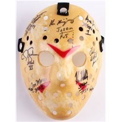 "Jason ""Friday the 13th"" Hockey Mask Signed By (7) with Kane Hodder, Tom Morga, Ted White, Ari Lehman"
