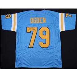 "Jonathan Ogden Signed UCLA Bruins Jersey Inscribed ""CHOF 12"" (JSA COA)"