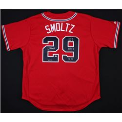 "John Smoltz Signed LE Braves Jersey Inscribed ""213 W, 154 S"", ""3084 K"", and ""96 CY"" (Radtke COA)"