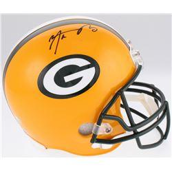 Aaron Rodgers Signed Packers Full-Size Helmet (Fanatics Hologram  Leaf Hologram)