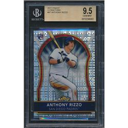 2011 Finest X-Fractors #97 Anthony Rizzo RC (BGS 9.5)