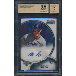2011 Finest Green Refractors #97 Anthony Rizzo RC (BGS 9.5)